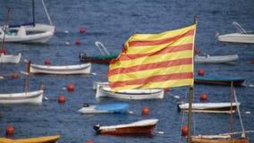 Catalonia flagga 01 stock video