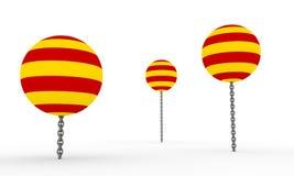 Catalonia flagga på ballonger Royaltyfri Bild