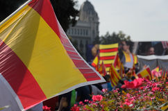 Catalonia flags Royalty Free Stock Photography