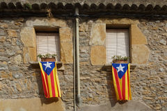 Catalonia flags Stock Photos