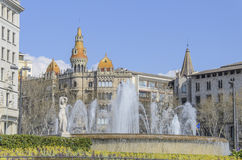 Catalonia fyrkant royaltyfri bild