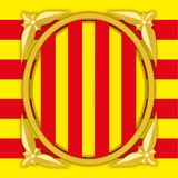 Catalonia government coat of arm Royalty Free Stock Photos