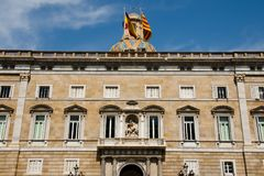 Catalonia Government Palace - Barcelona Stock Photography