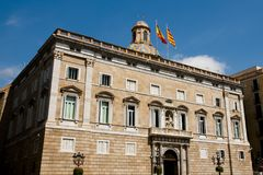 Catalonia Government Palace - Barcelona Royalty Free Stock Images