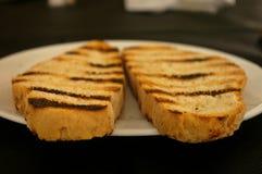 Catalonia grzanki chleb w stole Obraz Stock
