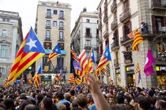 Catalonia independence Stock Photo
