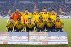Catalonia National Soccer team Stock Image