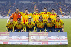 Catalonia National Soccer team Stock Image