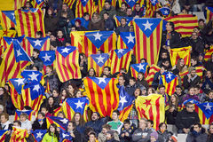 Catalonia National team supporters Stock Photo