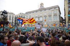 Catalonia niezależność Zdjęcia Royalty Free