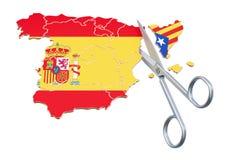 Catalonia självständighetbegrepp, tolkning 3D Arkivbilder