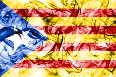 Catalonia smoke flag, dependent territory flag.  Royalty Free Stock Image