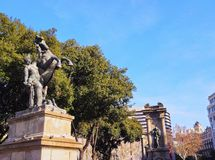 Catalonia Square in Barcelona Stock Photography