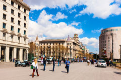 Catalonia Square. Barcelona. Spain Royalty Free Stock Images