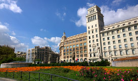 Catalonia Square in Barcelona, Spain Stock Image