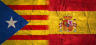Catalonia utgång från Spanien den politiska processen Royaltyfria Bilder