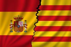 Catalonia vs Hiszpania - niezależność obraz stock