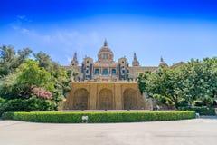 Catalonian Национальный музей MNAC Стоковые Изображения