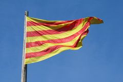 catalonian флаг Стоковое Фото