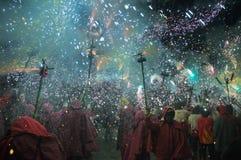 catalonian festivalbrandregioner arkivbilder