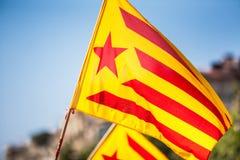 Catalonian flag Stock Photos