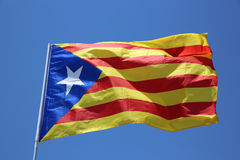 Catalonian Flag. In the Wind Stock Photo