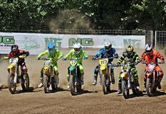 Catalonian League of motocross royalty free stock images