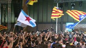 Catalonian politik för folkmassaseparatistprocess arkivfilmer