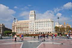 Catalonian Square, Barcelona Stock Image