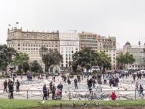 Catalunya di Placa, Barcellona fotografie stock libere da diritti