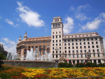 Catalunya-Quadrat in Barcelona Lizenzfreies Stockfoto