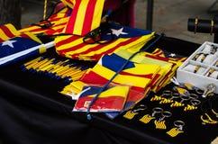 Catalunya souvenirs. Sale in platja Daro bEach Stock Photo