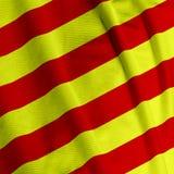 Catalunyan Flag Closeup Royalty Free Stock Photo
