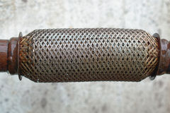 Catalytic converter. Wire Mesh Filter For Recycling Royalty Free Stock Photography