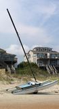 Catamarã na praia Imagens de Stock Royalty Free