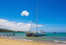 Praia de Waikoloa, ilha grande, Havaí Foto de Stock Royalty Free