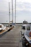 Catamarãs e iate Imagens de Stock Royalty Free