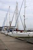 Catamarãs e iate Foto de Stock Royalty Free