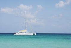 Catamaran. In saona beach - caribbean sea Stock Image