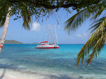 Catamaran. St. Vincent & Grendines, Tobago Cays stock photos