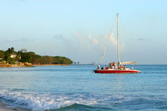 Catamaran. In the tropics royalty free stock image