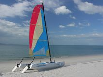 Catamaran on beach Stock Photography