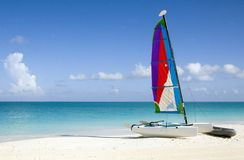 Catamaran on the Beach Stock Image