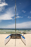 Catamaran on the beach Stock Photos