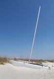 Catamaran on Beach. A cataran sits on a sunny beach in Myrtle Beach, South Carolina Royalty Free Stock Photography