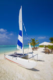 Catamaran at the beach Stock Photo