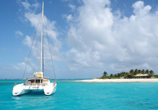 Catamaran at the beach Stock Photos