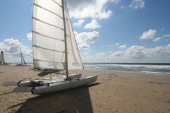 Catamaran on the Beach Royalty Free Stock Photos