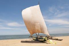 Catamaran on the beach Stock Photography