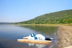 Catamaran on the beach. Royalty Free Stock Photo